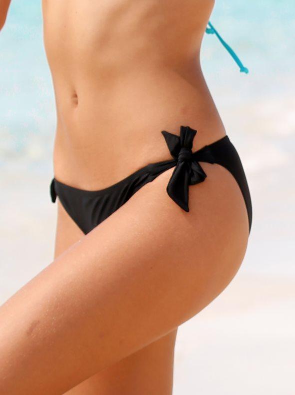 fef580be Braga bikini lisa con lazos en los costados negro 42. Venca