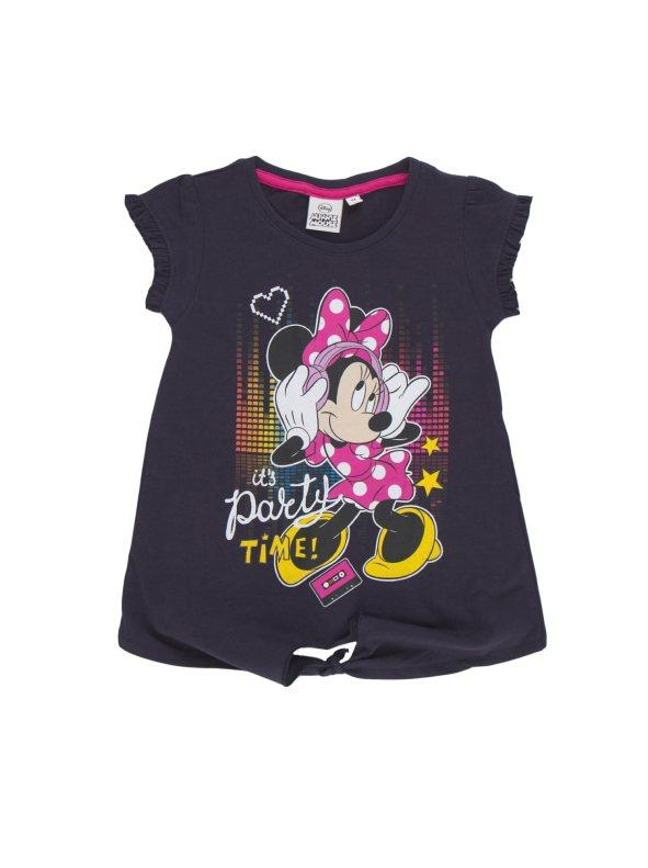 5541b377a Camiseta de niña anudada en el bajo minnie mouse marino 008