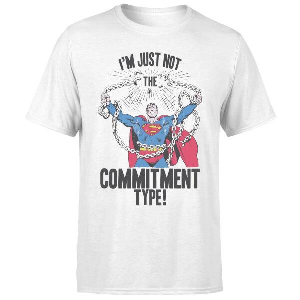 404f1d3880 Camiseta comics superman commitment type - hombre - blanco - l - blanco