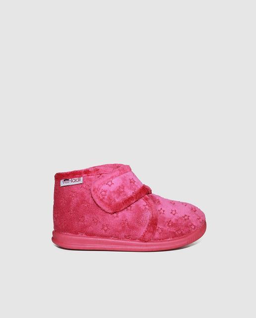 4fc57791848 Zapatillas de casa de bebé niña vulladi en fucsia con velcro