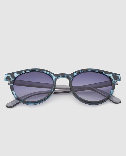 Gafas de sol unisex con montura de pasta azul 00dd4d19675a