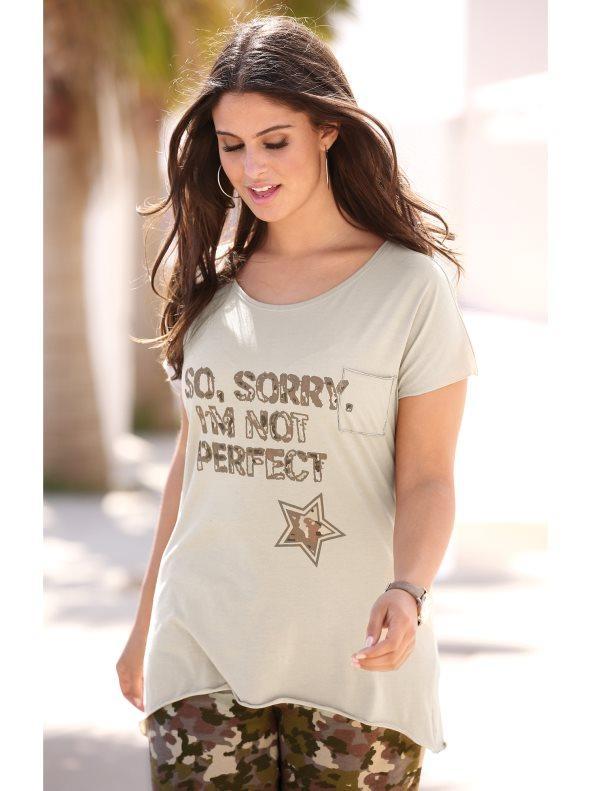 Camiseta estampada tallas grandes piedra l 965a9ed341853
