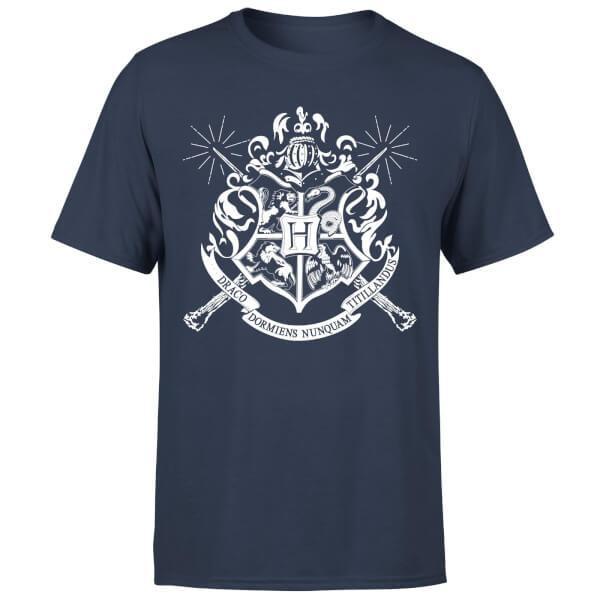 Camiseta escudo hogwarts - hombre - azul marino - xxl - azul marino 7e3b9a84010
