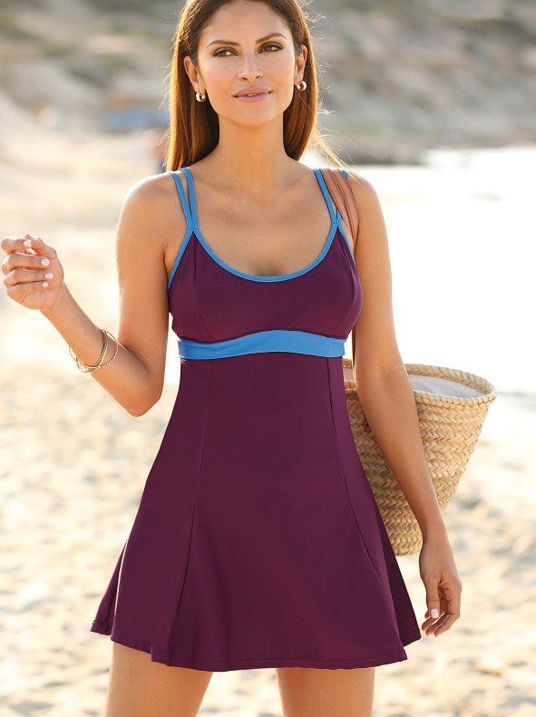 b27877057de Bañador vestido bicolor y copas con relleno lila morado 54