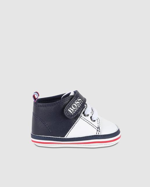 d850c829e37 Zapatillas deportivas de bebé niño bicolor con cordones y velcro