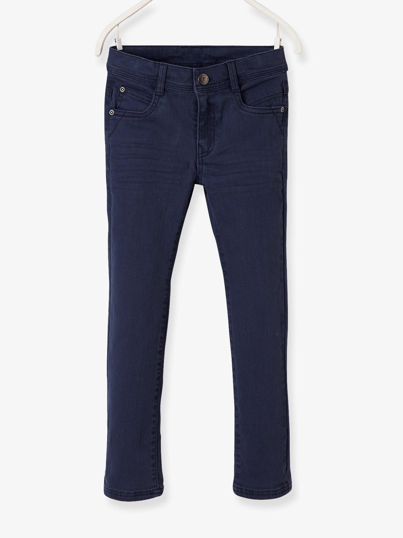 97aeadf5 Pantalón slim niño morfología fuerte azul medio liso