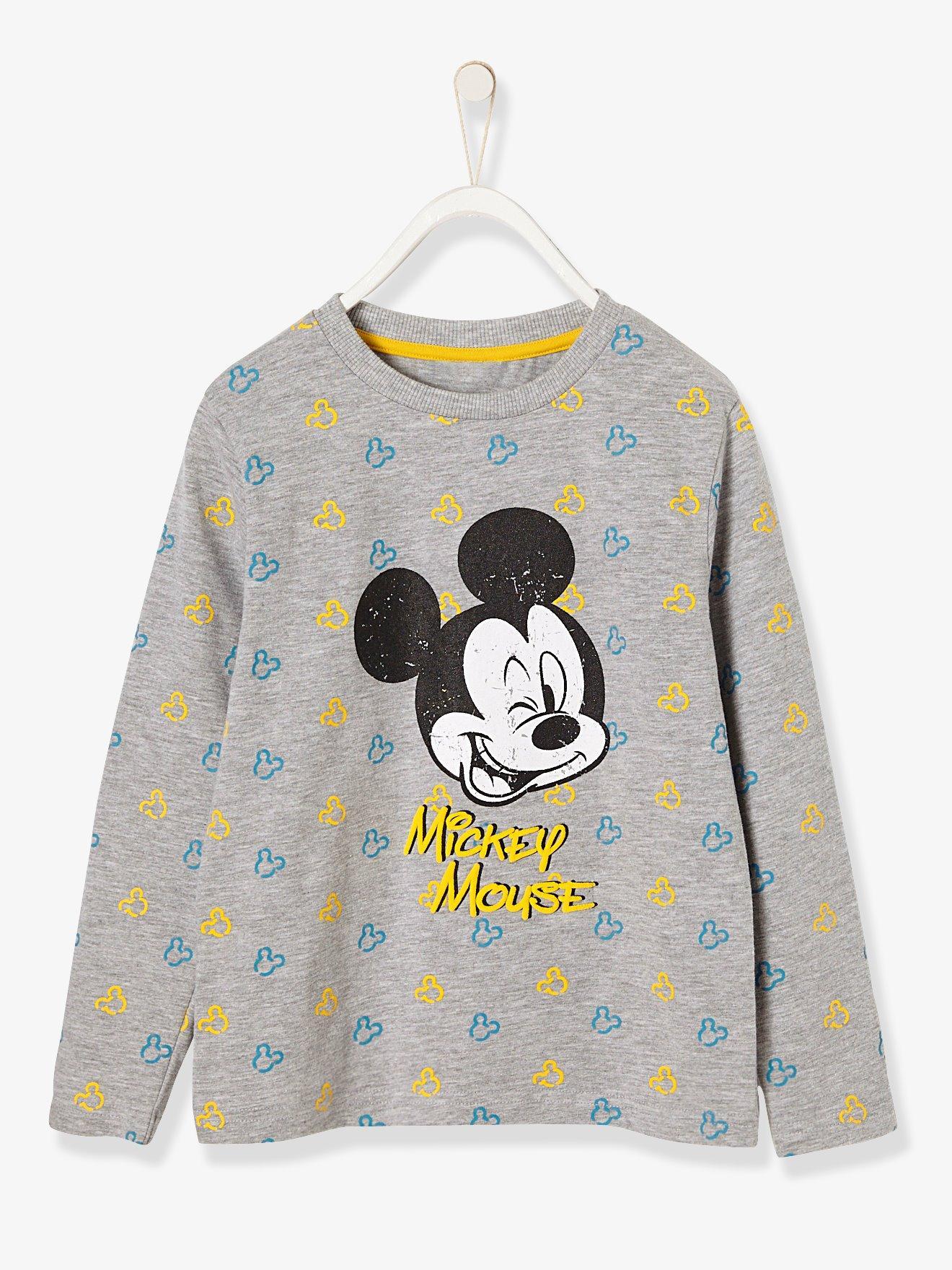 b1186eb61 Camiseta para niño mickey® estampada gris claro jaspeado. Vertbaudet