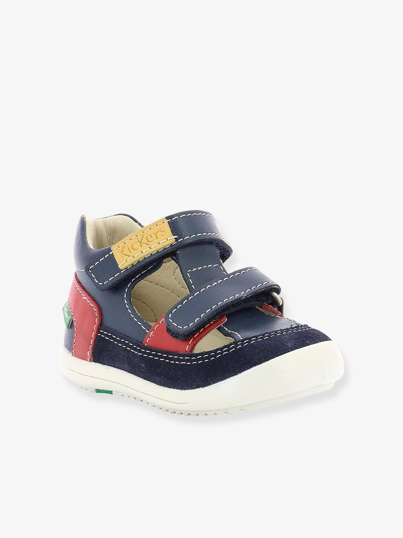 55c625cc9 Botines piel bebé kimono ® azul oscuro liso. Kickers