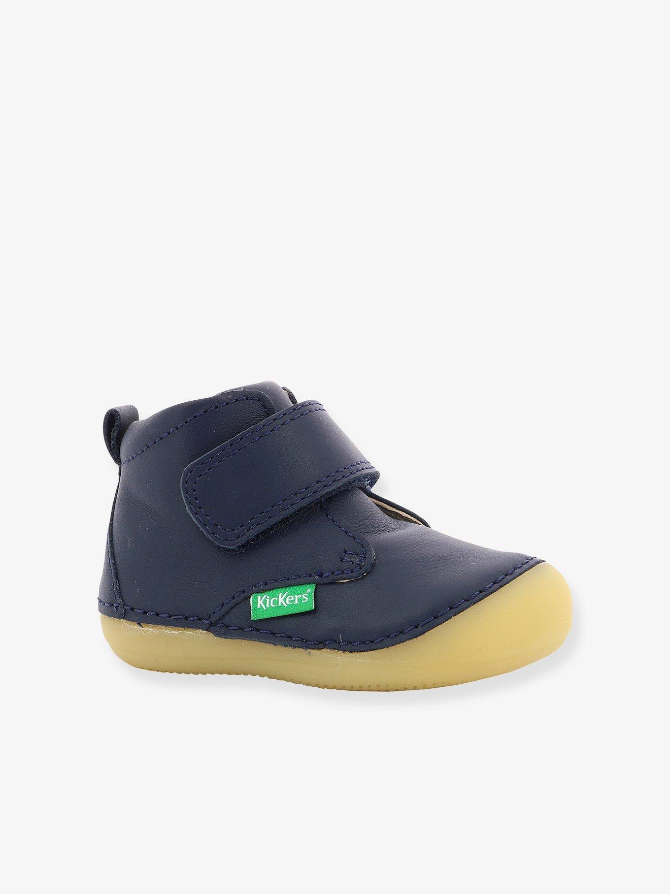 aba8611db Botines bebé sabio ® azul oscuro liso. Kickers