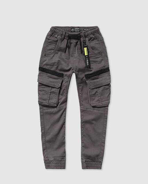 Niño Gris De En Cargo Pantalón Con Goma cR4LAq5jS3