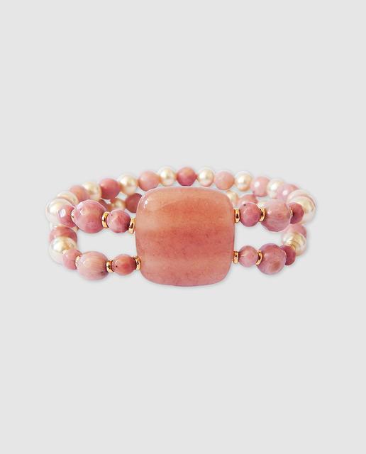 7afd271bf312 Pulsera de mujer perla jade rosa