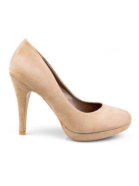 De Salón Zapatos Con Beige 36 Tacón Plataforma Mujer vY67byfg