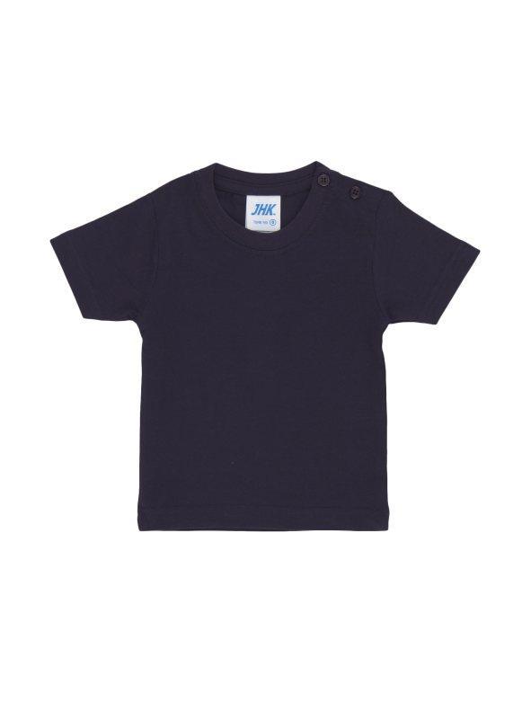 8bb1e13a868a1 Camiseta básica para bebé en punto elástico azul marino 024. Venca