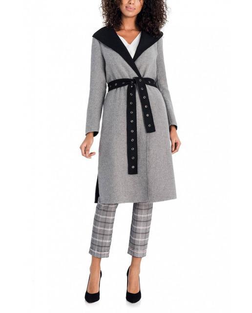 29fd2b7219a Abrigo de mujer de paño gris