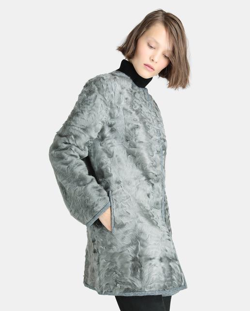 3198ecef4 Abrigo reversible de mujer en color gris