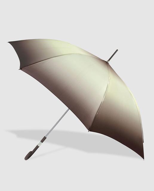 muchos de moda precio loco más de moda Paraguas largo automático ocre con estampado degradado