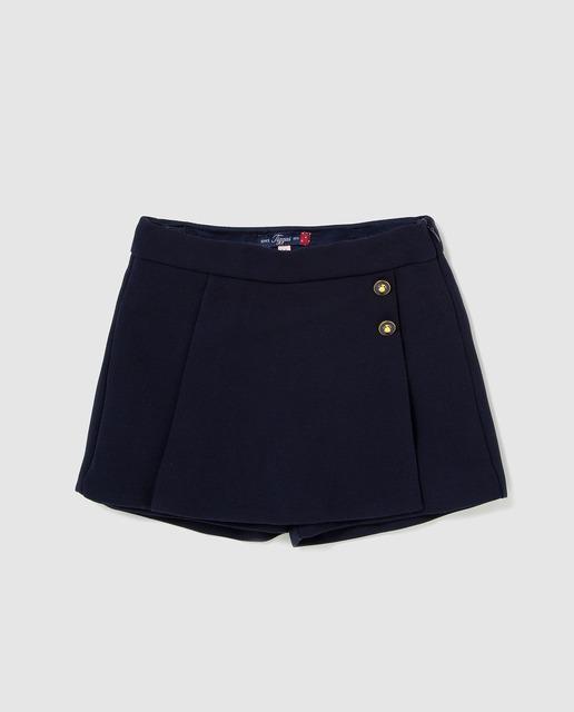 b45dfdb30 Falda pantalón de niña en azul marino