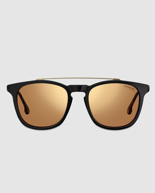 9ee2729c5d Gafas de sol de mujer cuadradas negras con doble puente metálico y lentes  espejadas
