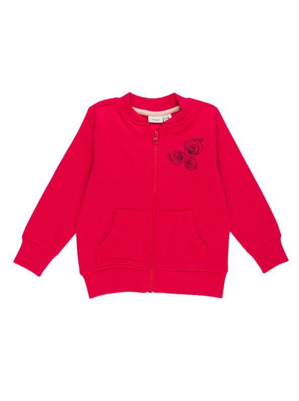d8f05a575 Chaqueta sudadera felpa niña dibujo rosas rojo 5