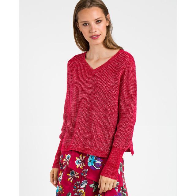 c2781135247 Jersey de mujer nafnaf rojo con cuello pico