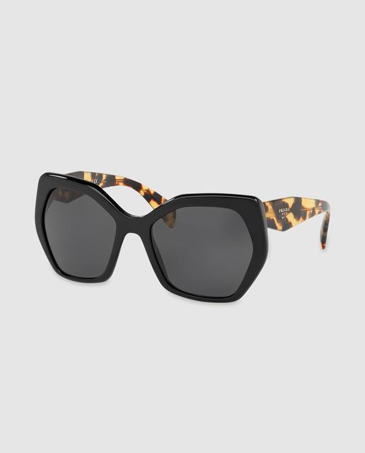 c7bcfd0a47b12 Gafas de sol de mujer de acetato en negro con varillas habana