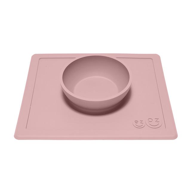 Plato mini mat mantel individual silicona blush rosa maquillaje Ezpz