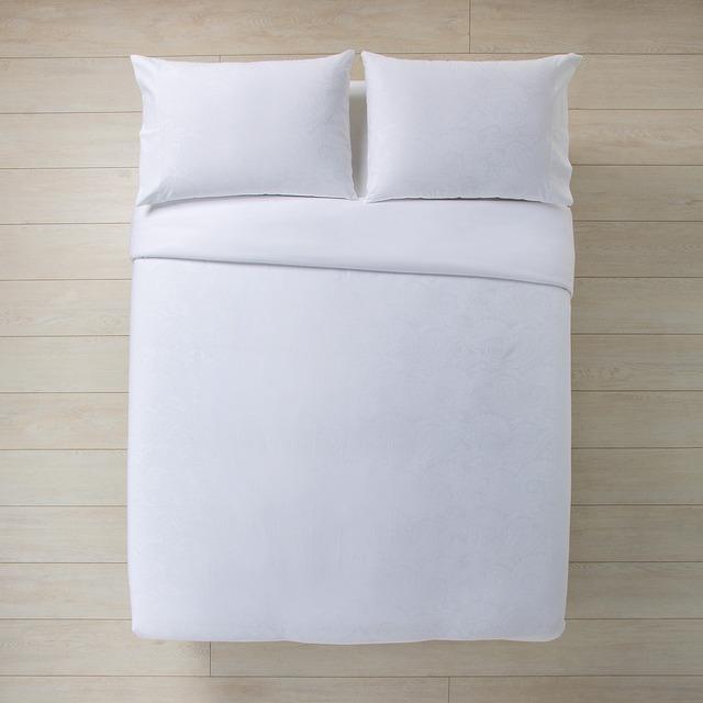 Juego de funda nórdica satén 300 hilos amelie blanco cama 90 cm 96a1954be40