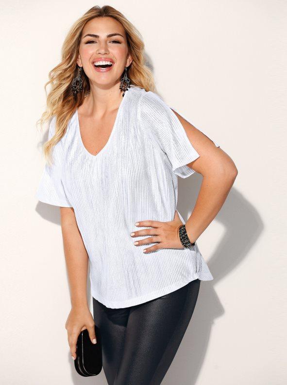 Camiseta fiesta manga corta tallas grandes plateado 4xl 54a518203f40c