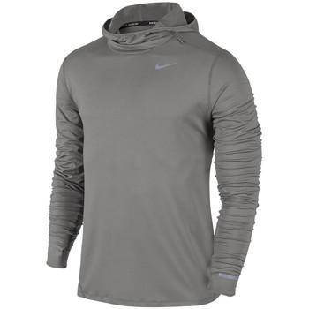 Camiseta manga larga dry element running hoodie para hombre 69fb432cc8719