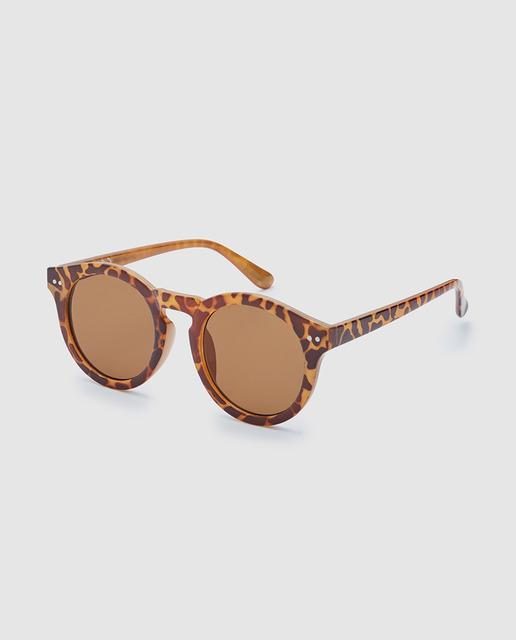 5ac3de2240836 Gafas de sol de mujer macadamia de pasta animal print marrón
