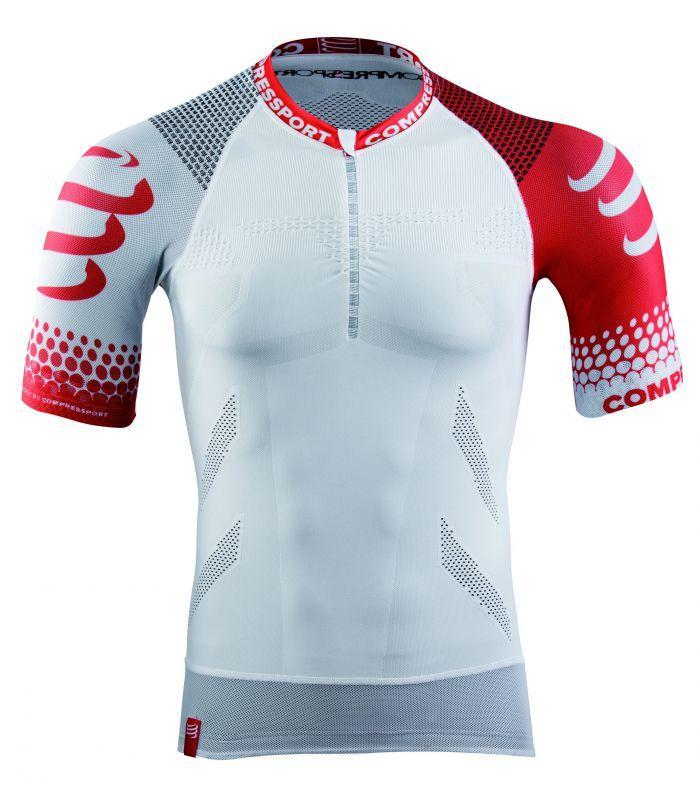 457dba916b Camiseta compresión trail running shirt hombre blanco l