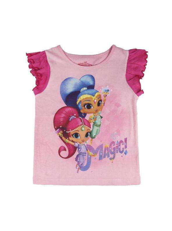 30bf604cb94c Camiseta niña con volantes fucsia 4. Shimmer & Shine
