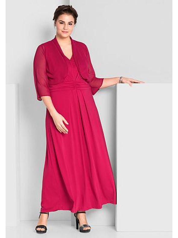 201a0bf95e2 Vestido fiesta largo pedrería tallas grandes rosa 58