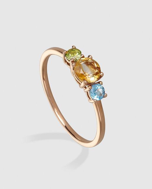 37e3d7c7dac3 Anillo de oro con piedras preciosas