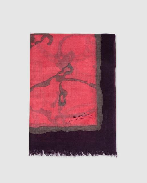 82876e51 Fular en rojo estampado
