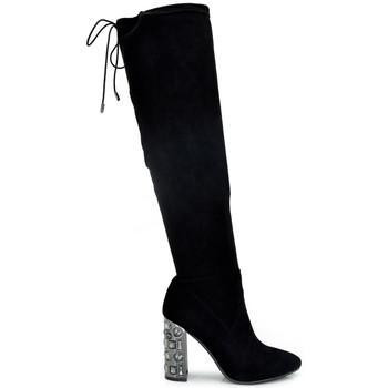 f7fd8af8c27 Botas altas botas tacon con cristales 7421a-1 para mujer