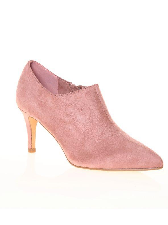 Zapatos Terciopelo 39 Rosa Tacón Abotinados Con Fino De rqwRSrXx