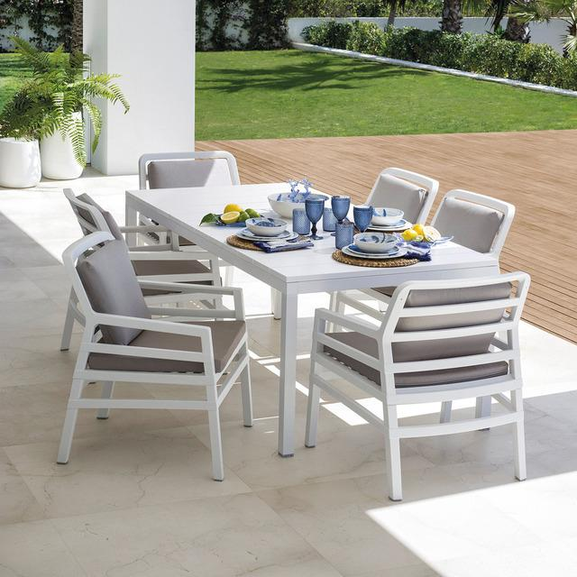 Conjunto de comedor exterior mesa rio con silla aria
