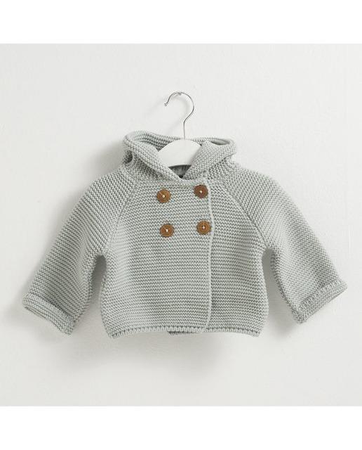 a982e9d65 Trenka de bebé niño de punto con capucha