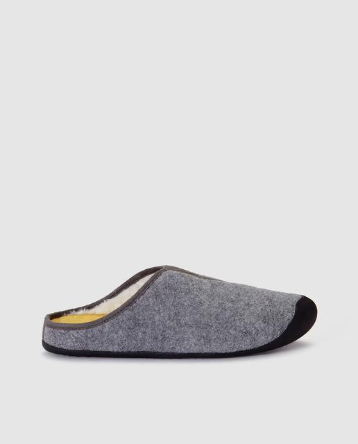 f95d530f41cc1 Zapatillas de casa de hombre destalonadas en color gris
