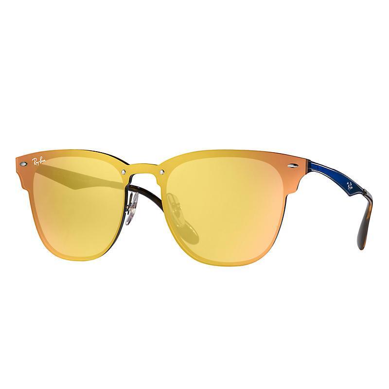 4d53d688c0934 Blaze clubmaster unisex sunglasses lentes  naranja, montura  azul - rb3576n  90377j 01-41