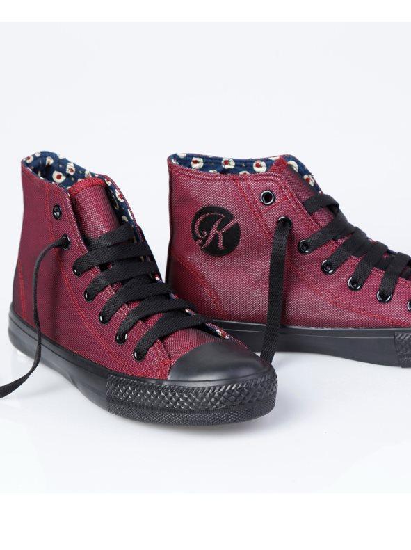 2b88f941b89 Zapatillas deportivas para mujer de caña alta burdeos 38
