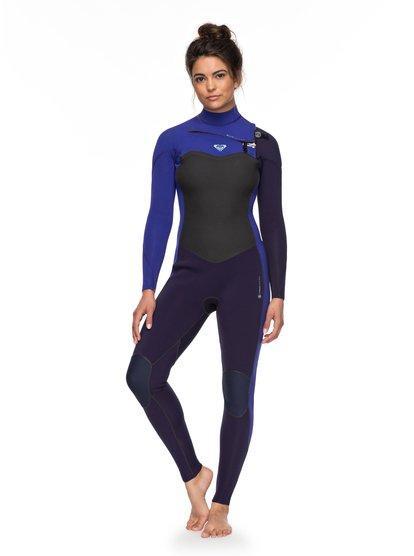 3 2mm performance - traje de surf con cremallera en el pecho para mujer -  azul 04220890c68
