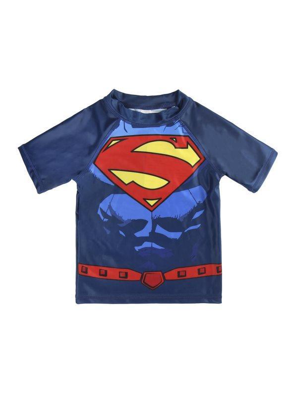 Camiseta de baño niño manga corta azul 5 321492eca1679