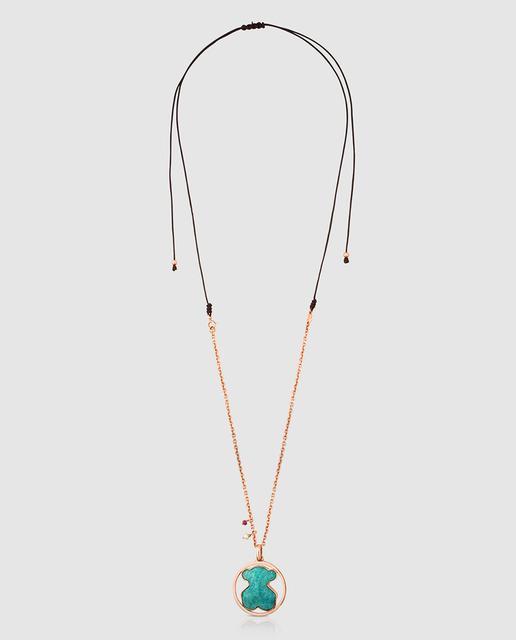 e5e85a5b398b Collar camille de plata vermeil rosa y amazonita