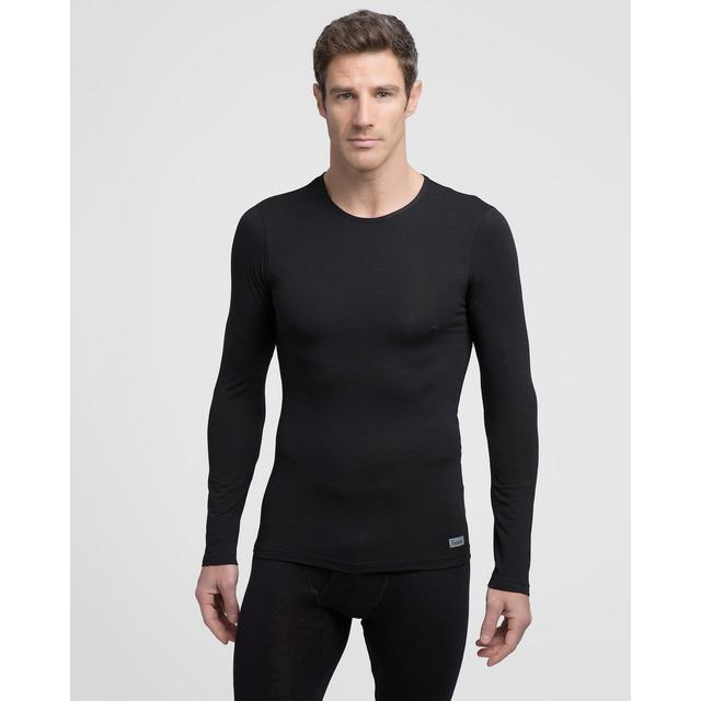 e8c8f9408dda Camiseta interior de hombre negra con manga larga