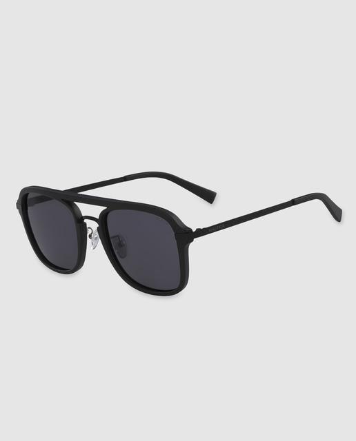 315eea0320 Gafas de sol de hombre cuadradas de pasta negras con doble puente