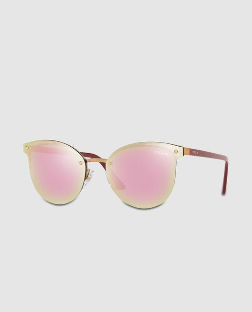 66e23a93b00b3 Gafas de sol de mujer pantos de metal en dorado