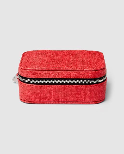 8b77f063e Jojero de viaje en rojo con cremallera