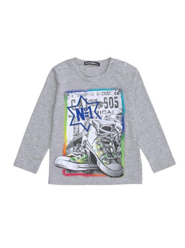 a2981866a Camiseta manga larga niño estampado deportivas gris vigoré 001